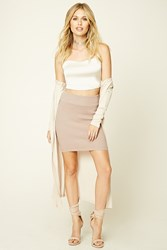 Forever 21 Ribbed Knit Bodycon Mini Skirt