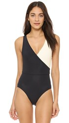 Solid And Striped The Ballerina One Piece Black Cream