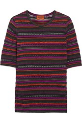 Missoni Mesh Trimmed Crochet Knit Top