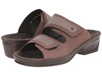 Ara Imogen Dark Taupe Nubuck Titan Metallic Women's Sandals Brown