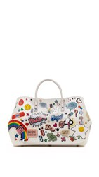 Anya Hindmarch Ebury Maxi Allover Stickers Tote Chalk