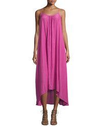 Philosophy High Low Sleeveless Maxi Dress Magenta Pink