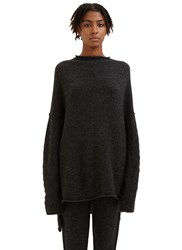 Lauren Manoogian Oversized Knitted Boat Neck Sweater Black