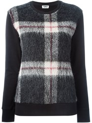 Sonia By Sonia Rykiel Plaid Panel Sweatshirt Black
