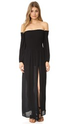 Blue Life Festive Off Shoulder Maxi Dress Black