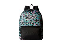 Vans Realm Backpack Floral Mix Black Turquoise Backpack Bags White
