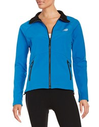 New Balance Soft Shell Jacket Blue