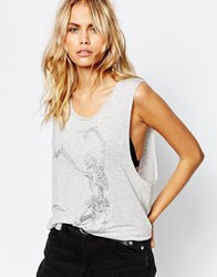 Zoe Karssen Run Free Skeleton T Shirt White
