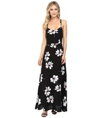 Brigitte Bailey Surya Spaghetti Strap Maxi Dress With Open Back Black White Women's Dress