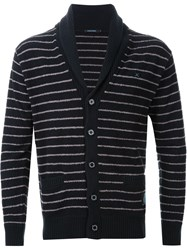 Guild Prime Striped Cardigan Black