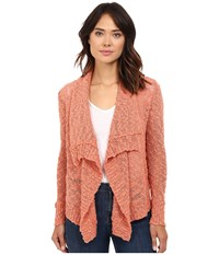Rip Curl Venice Cardigan Salmon Women's Sweater Orange