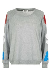 Project Social T Usa Sleeve Sweat By Grey