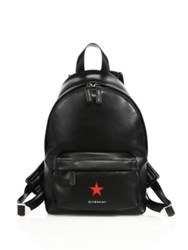 Givenchy Mini Leather Star Backpack Black Red
