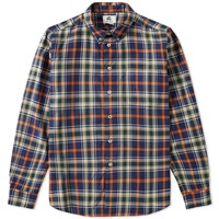 Paul Smith Tailored Fit Check Shirt Blue