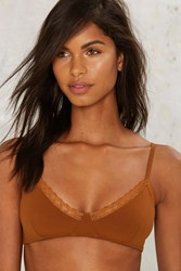 Trim Shot Lace Bra Brown