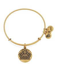 Alex And Ani Queen's Crown Ii Expandable Wire Bangle Rafaelian Gold