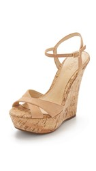 Schutz Emiliana Wedge Sandals Light Wood