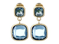Michael Kors Botanicals Gold Single Citrine Stone Drop Earring Gold Blue Earring