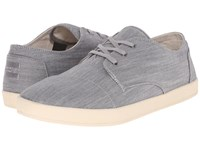 Toms Paseo Grey Denim Men's Lace Up Casual Shoes Gray
