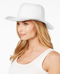 August Hats Classical Toyo Floppy Hat White