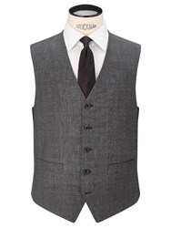 Chester Barrie By Prince Of Wales Check Suit Waistcoat Grey