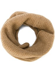 Roberto Collina Wrapped Scarf Nude And Neutrals
