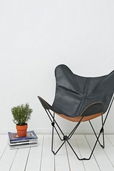 Leather Butterfly Chair Cover In Black Urban Outfitters