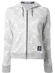 Guild Prime Printed Zip Up Hoodie Grey