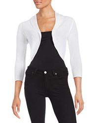 Lord And Taylor Cropped Shrug White