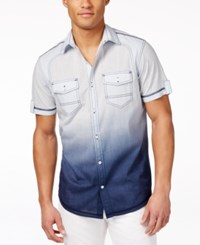 Inc International Concepts Men's Hawaii Dip Dye Short Sleeve Shirt Only At Macy's Shaved Ice