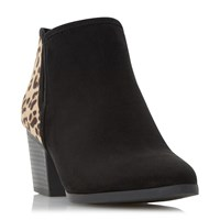 Head Over Heels Peta Elasticated Insert Ankle Boots Leopard Print