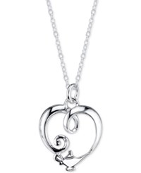 Disney Genie Lamp Pendant Necklace In Sterling Silver