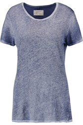 Current Elliott The Petite Linen And Cotton Blend T Shirt Sky Blue