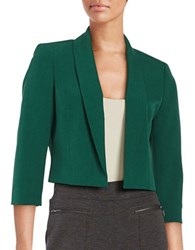 Nipon Boutique Cropped Crepe Blazer Evergreen