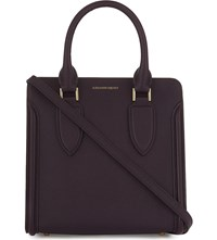 Alexander Mcqueen Heroine Small Leather Tote Purple