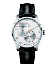 Hamilton Jazzmaster Regulator Auto Stainless Steel And Embossed Leather Strap Watch Brown Silver