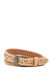 Bill Adler Tr Tone Studded Leather Belt Brown