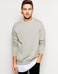 New Look Crew Neck Sweatshirt Grey