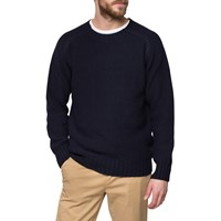 Ymc Navy Moss Knit Sweater Blue