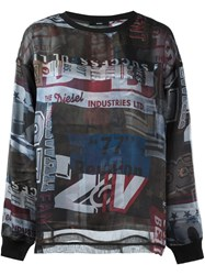 Diesel Printed Sweatshirt Multicolour