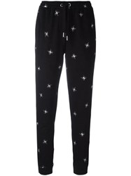 Zoe Karssen Spider Embroidered Track Pants Black