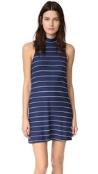 Splendid Mock Neck Dress Academy Navy