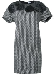 Megan Park 'Florina' Jacquard Dress Black