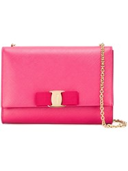 Salvatore Ferragamo 'Vara' Crossbody Bag Pink And Purple