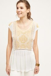 Anthropologie Tilestitch Tunic Gold