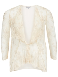 Chesca Scalloped Lace Cover Up Vanilla