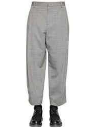 Giorgio Armani 25Cm Stretch Wool Cavalry Pants