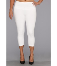 Lysse Plus Size Cotton Capri 12150 White Women's Capri