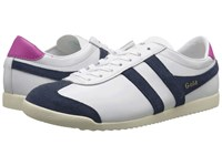 Gola Bullet Leather White Navy Women's Shoes