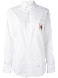 Thom Browne Embroidered Hector Patch Shirt White